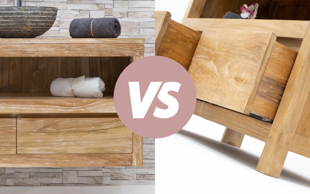 Comment choisir son meuble de salle de bain : sur-pieds VS suspendu ?