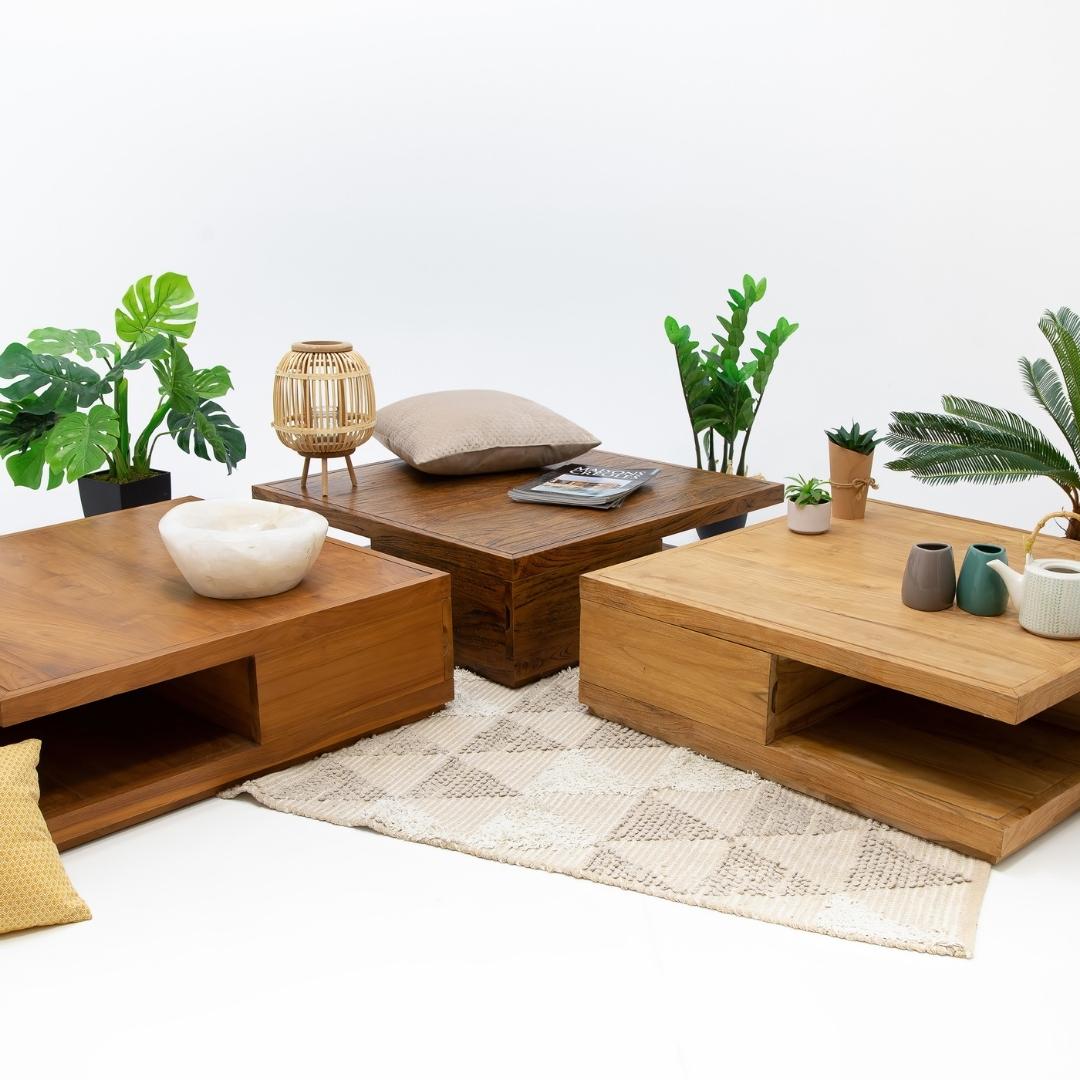Table basse deux tiroirs